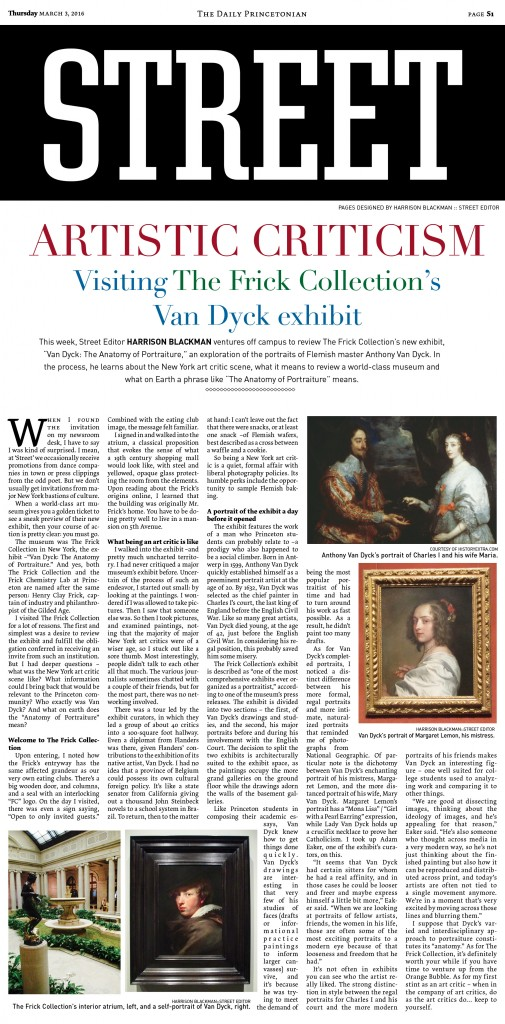 The Daily Princetonian Artistic Criticism Visiting The Frick